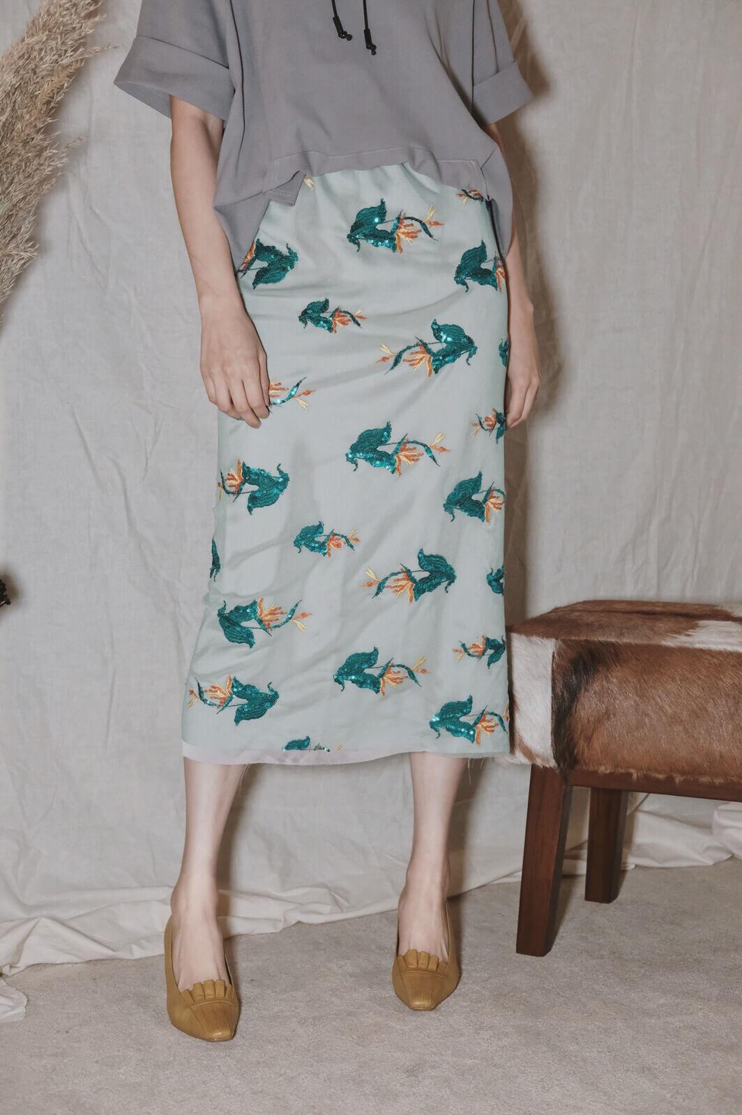 DC紗繡亮片裙