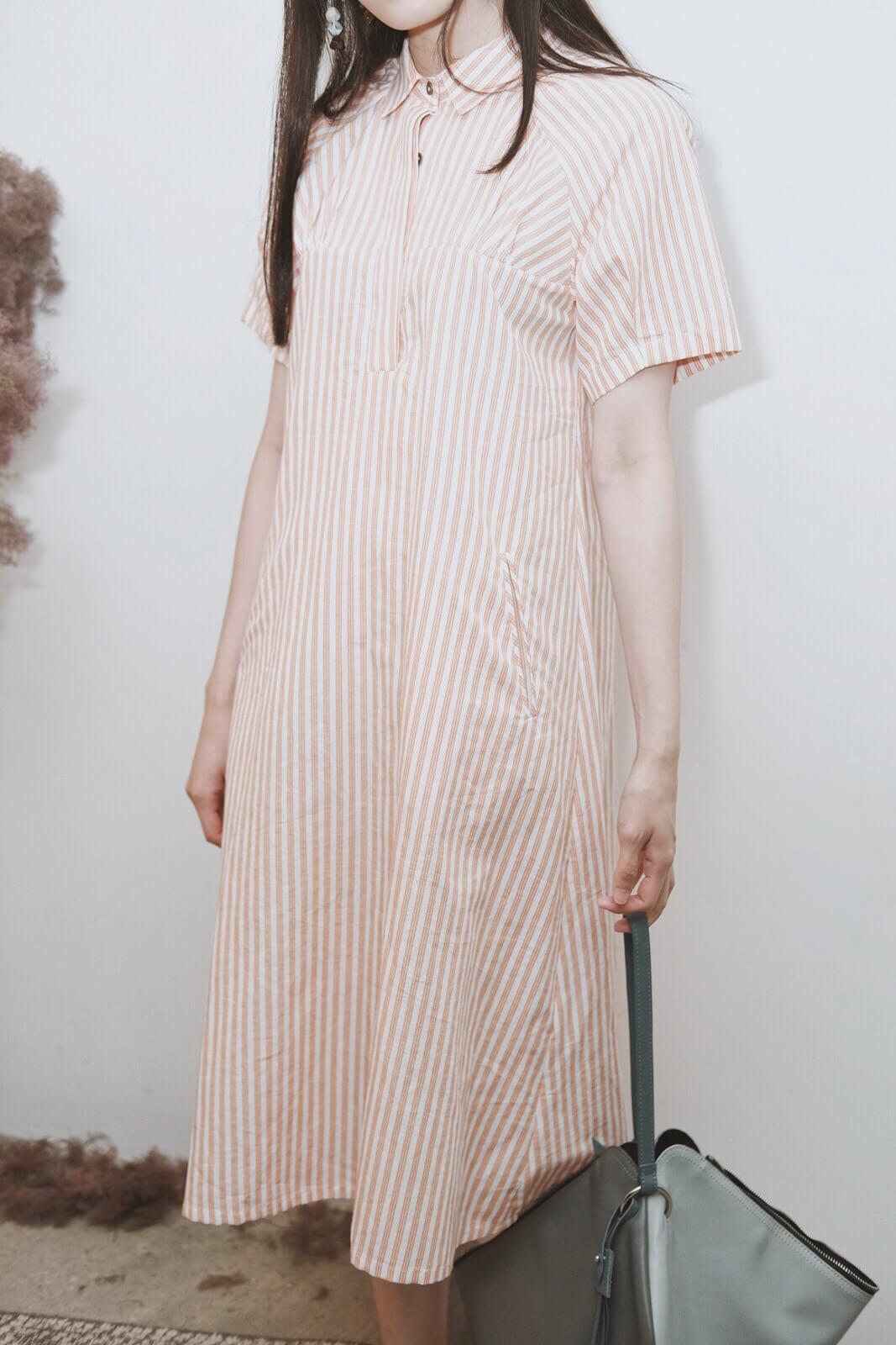 DC短袖直條洋裝
