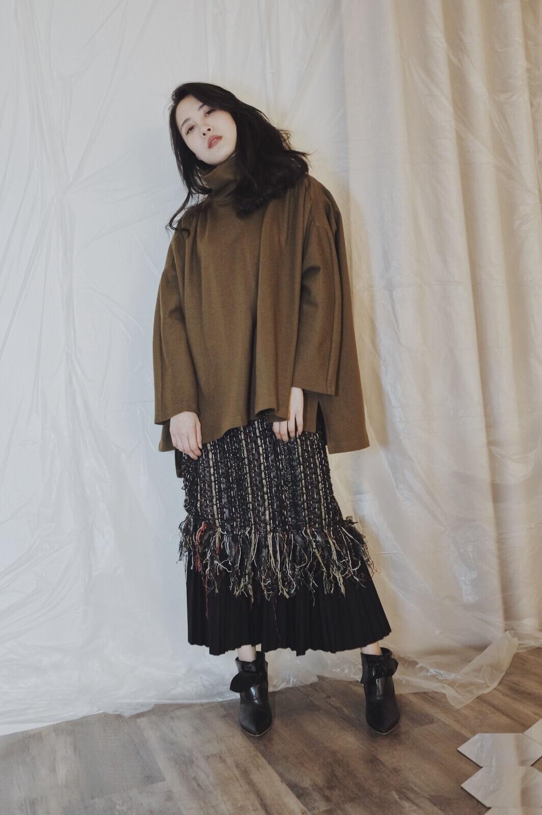 DC織金毛呢裙