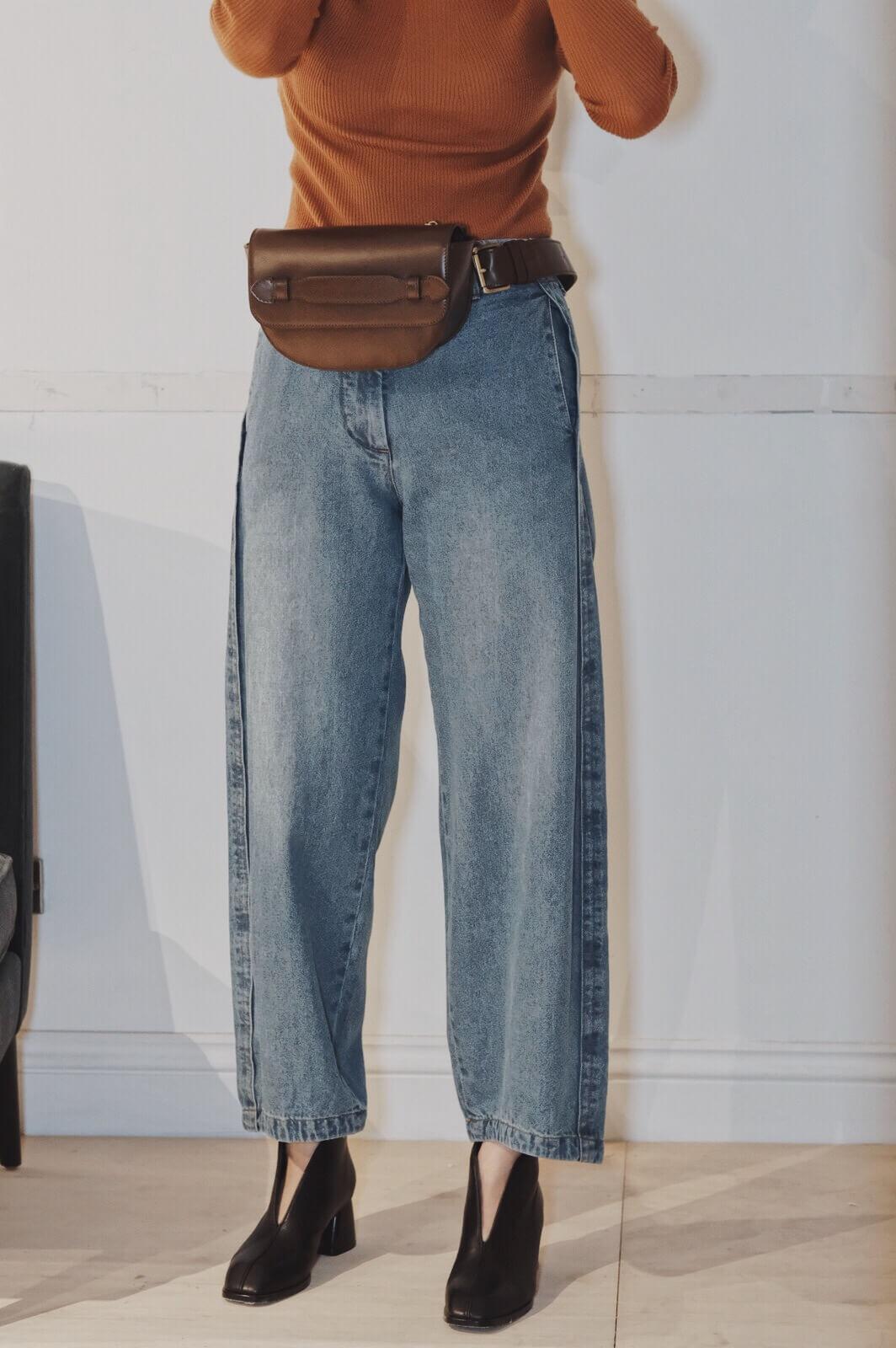 DC錐形單寧褲