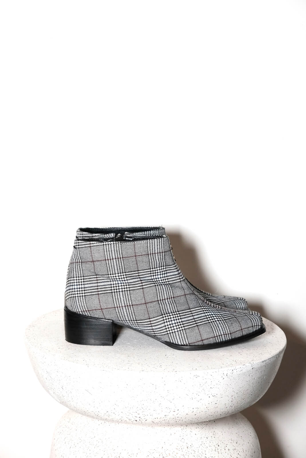 DC千鳥格短靴
