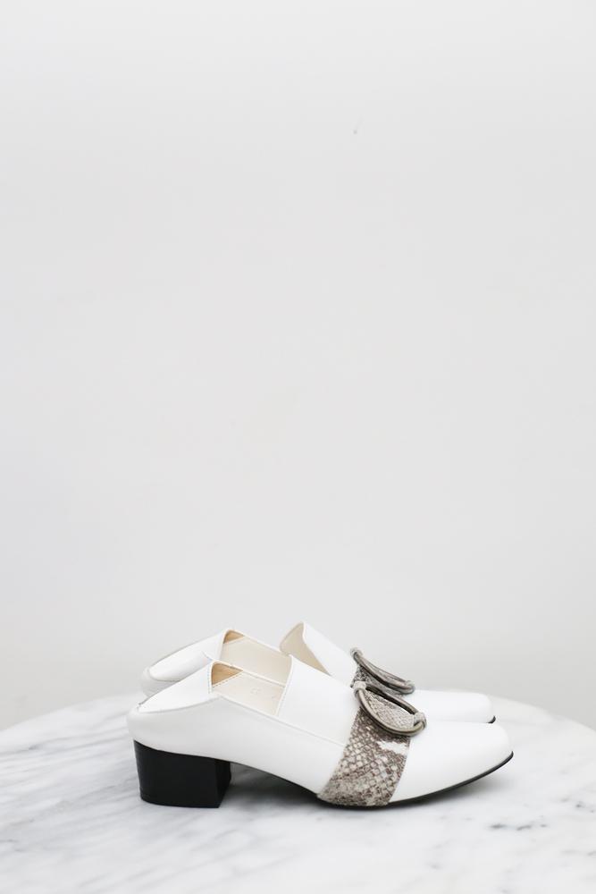DC[白]扣環mule loafer