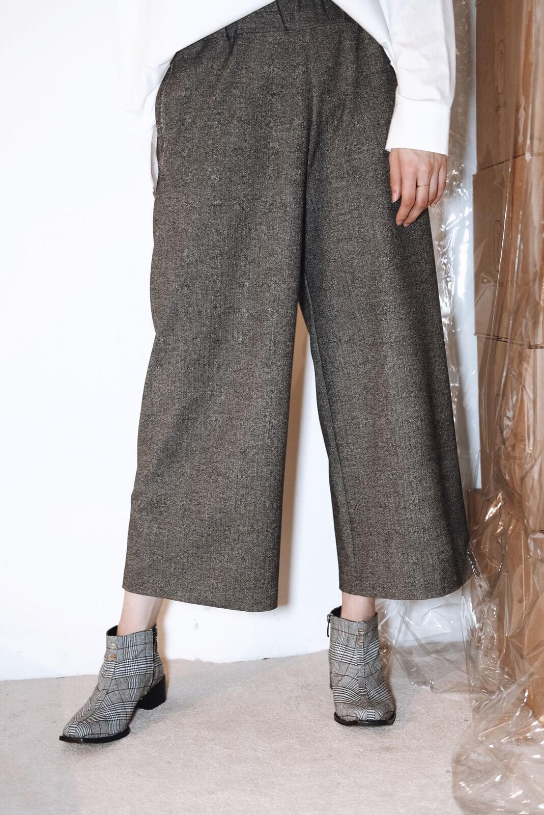DC山形紋寬褲
