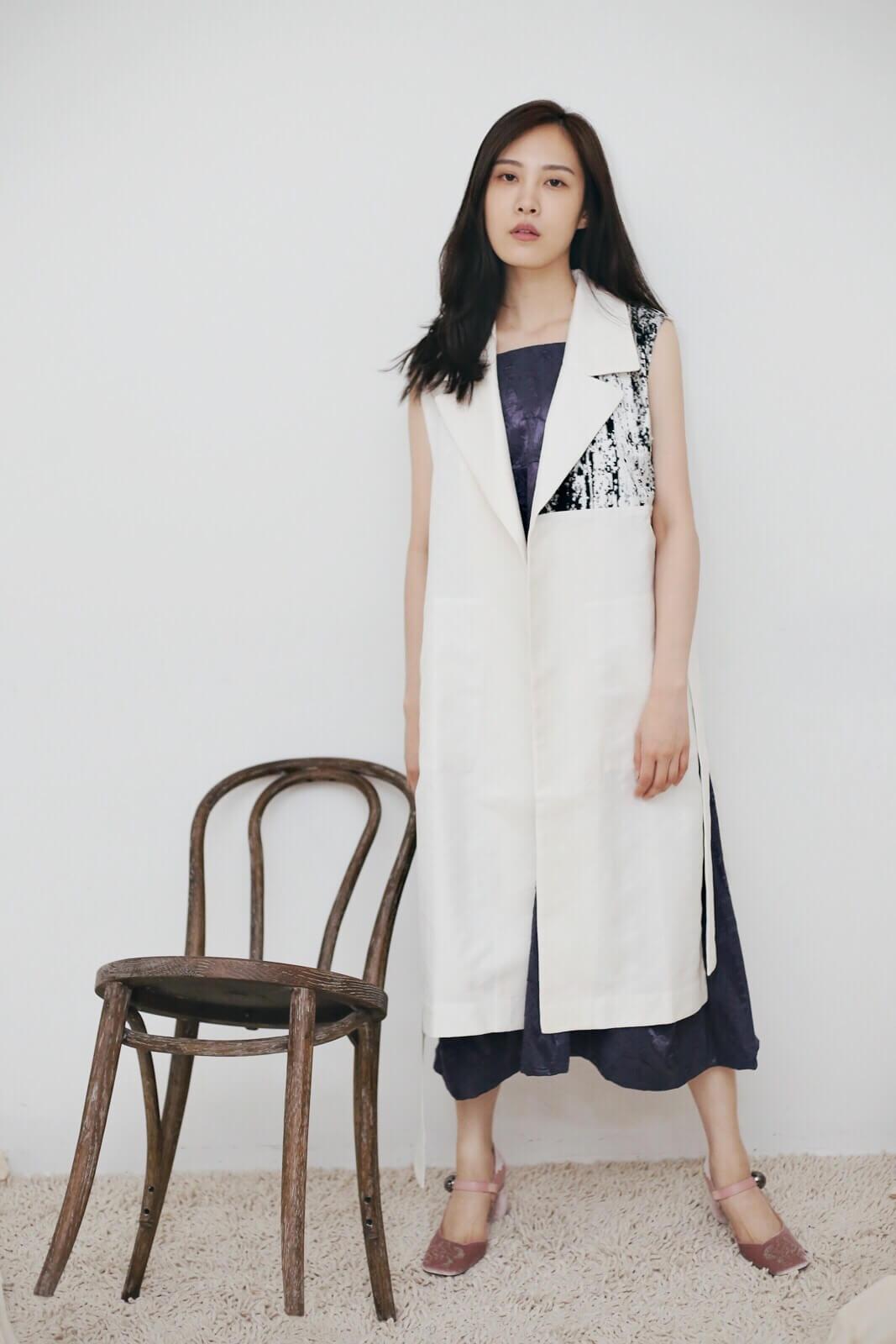DC木紋背心外套