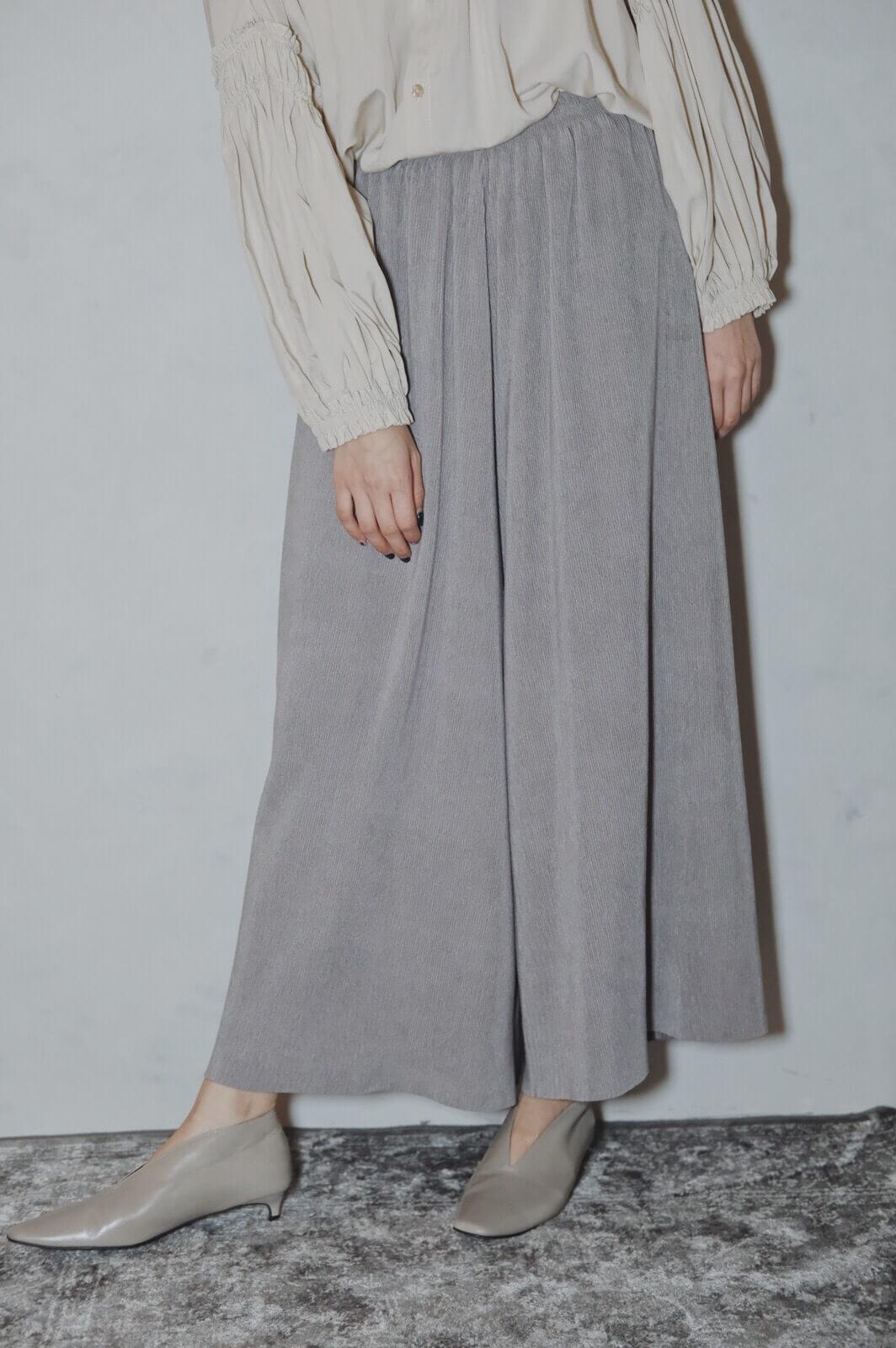 DC麂皮絨百折褲