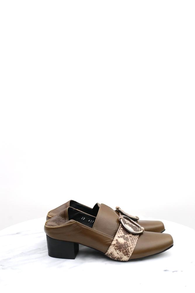 DC[咖綠]扣環mule loafer