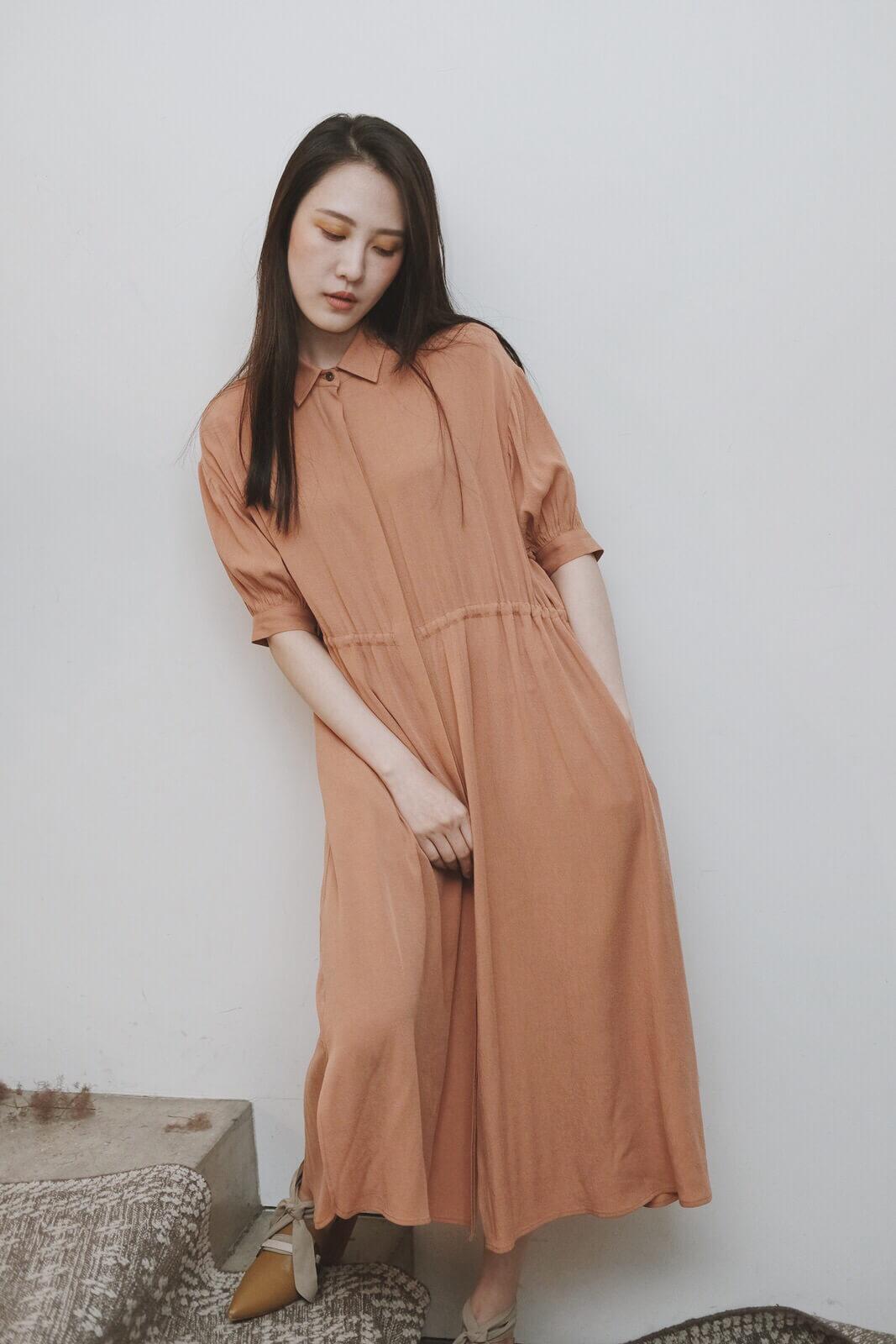 DC五分袖襯衫洋裝