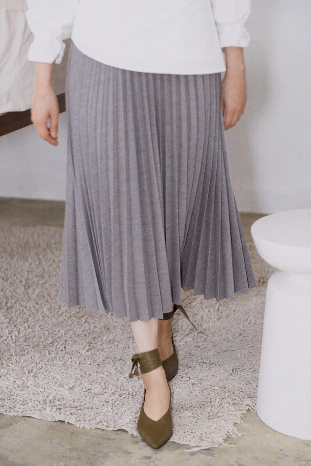 植絨百折裙