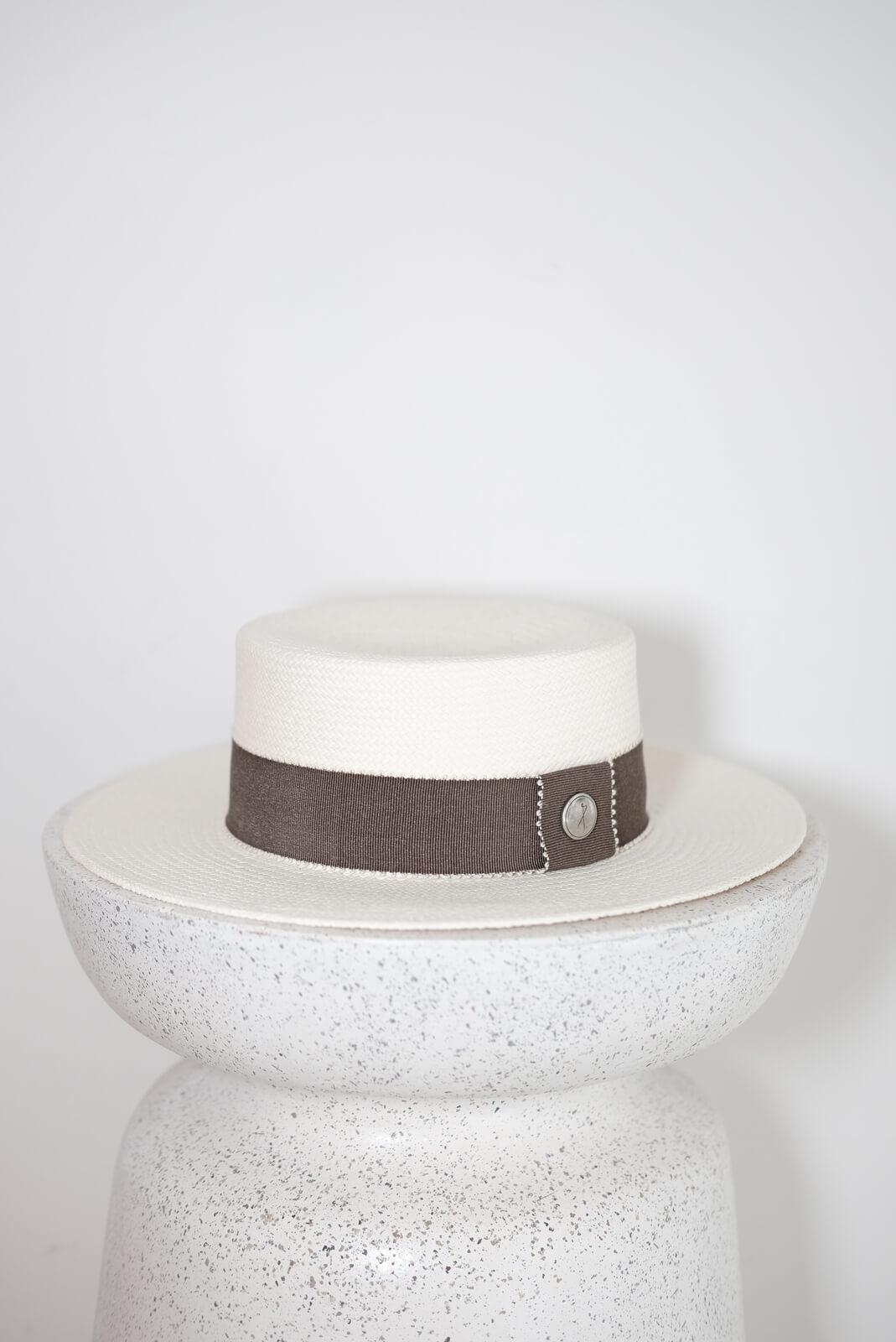 DC菸草織帶巴拿馬帽
