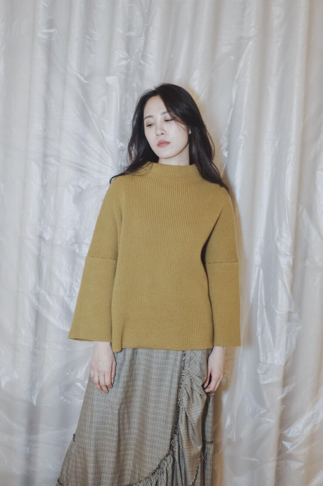 DC 寬袖混織毛衣