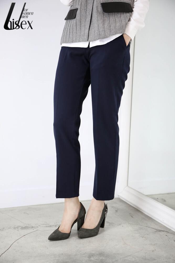 DC[深藍]壓線西褲