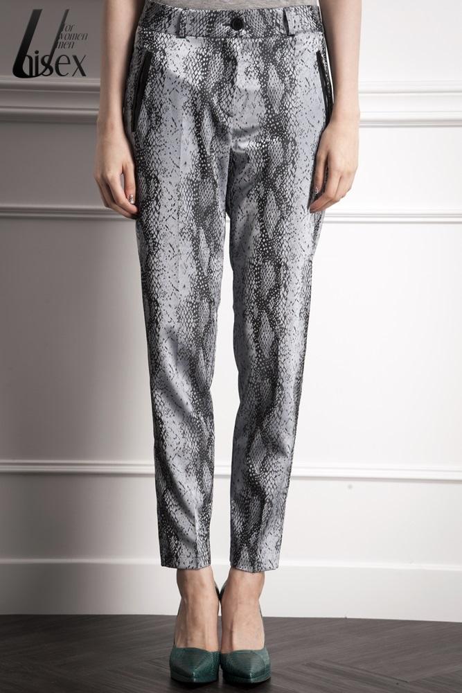 DC[灰藍]蛇紋長褲