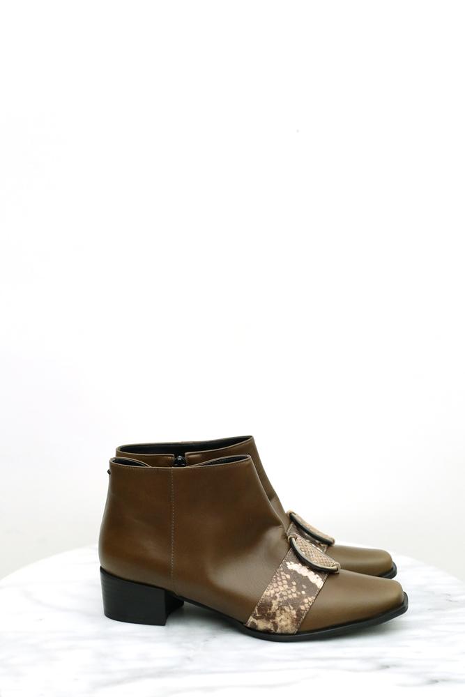 DC[咖綠]扣環boots