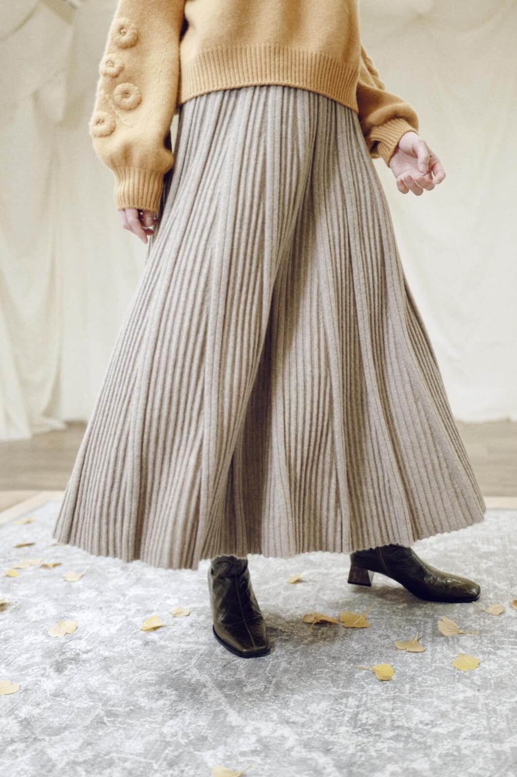 DC針織百折裙