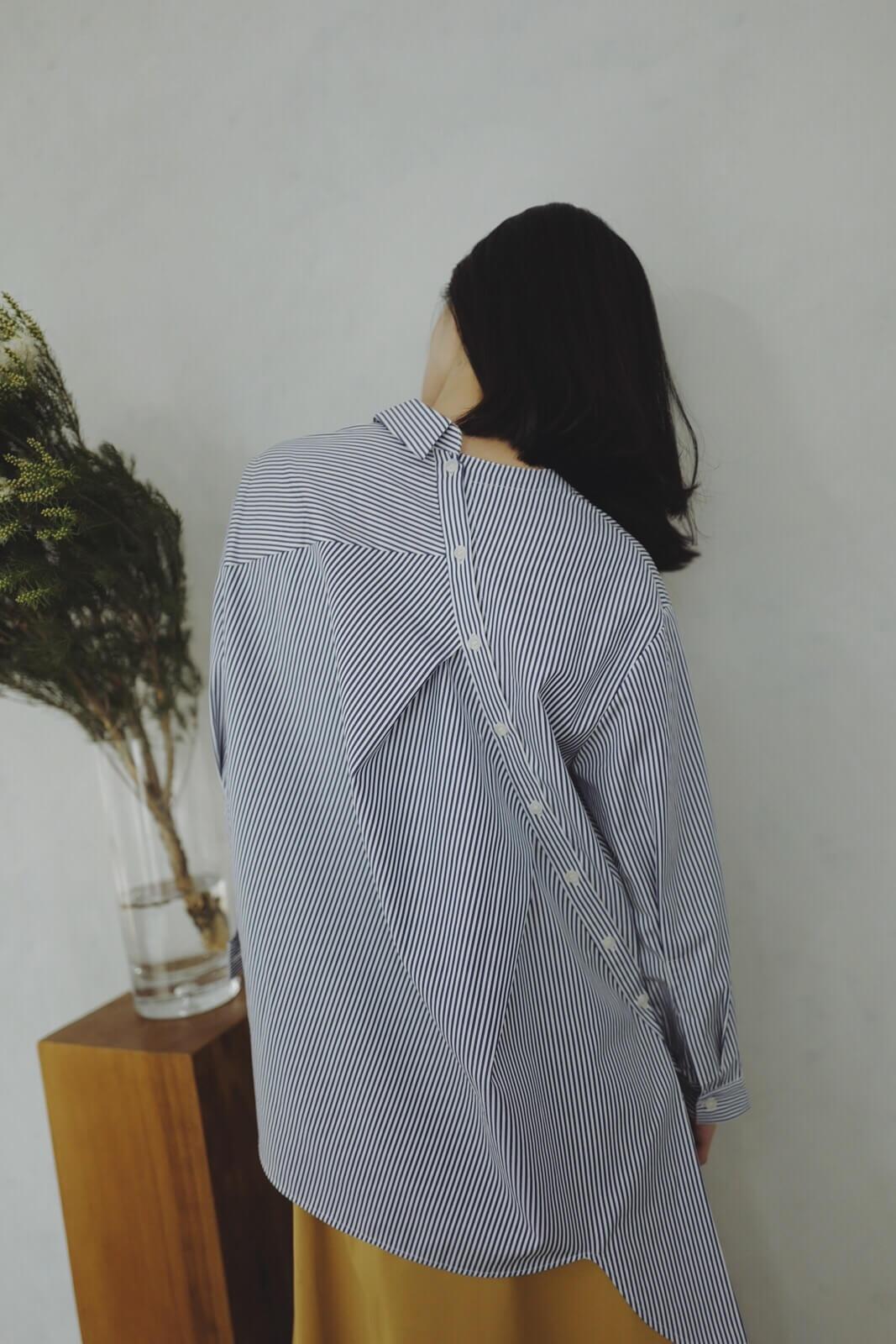 DC雙穿斜釦襯衫