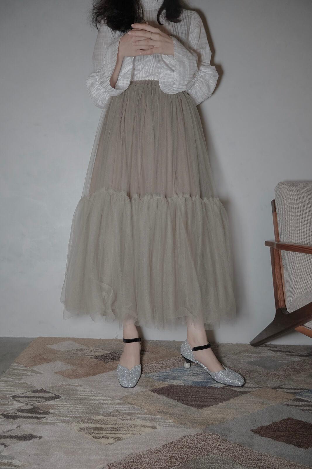 DC抓摺紗裙
