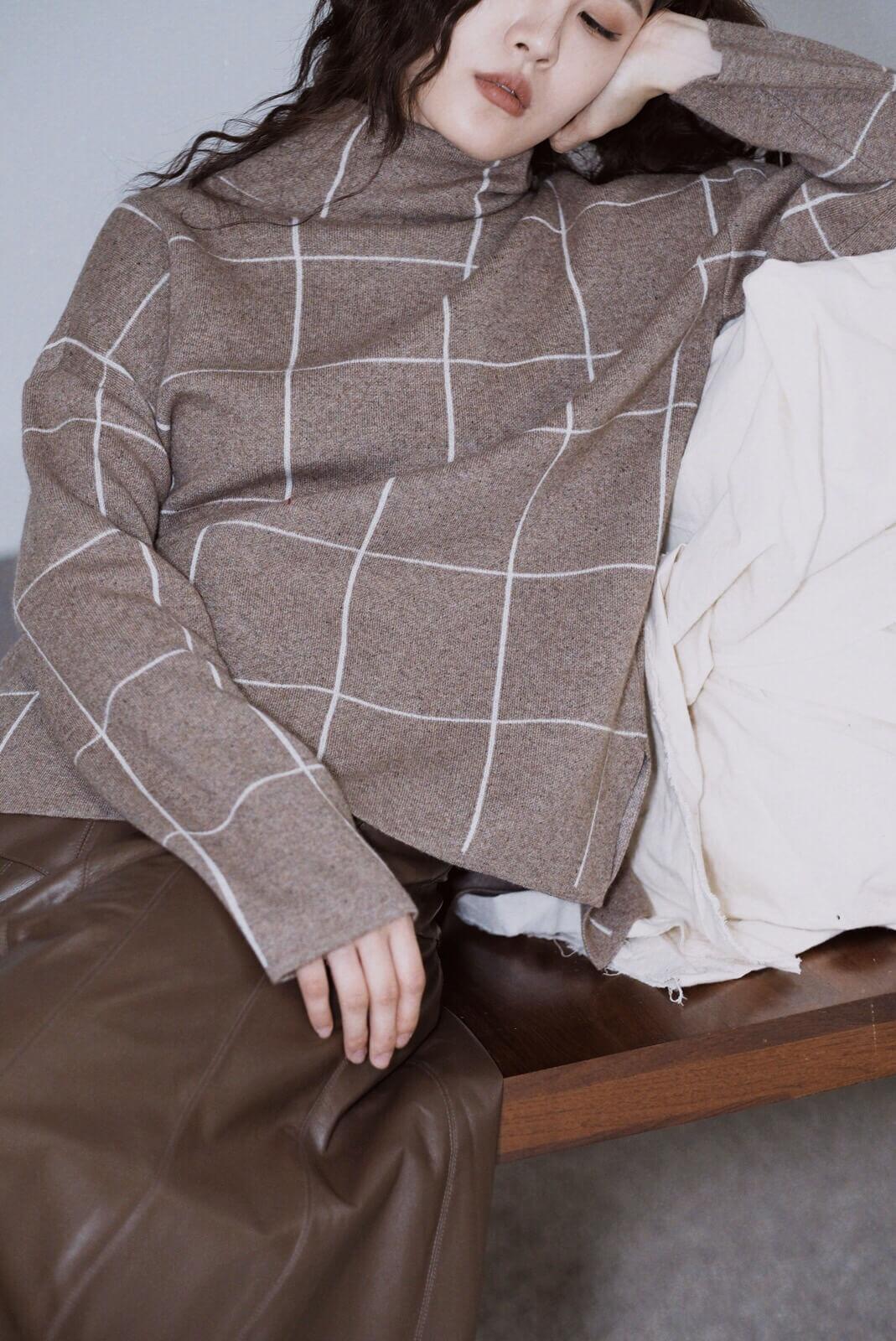 格高領毛衣