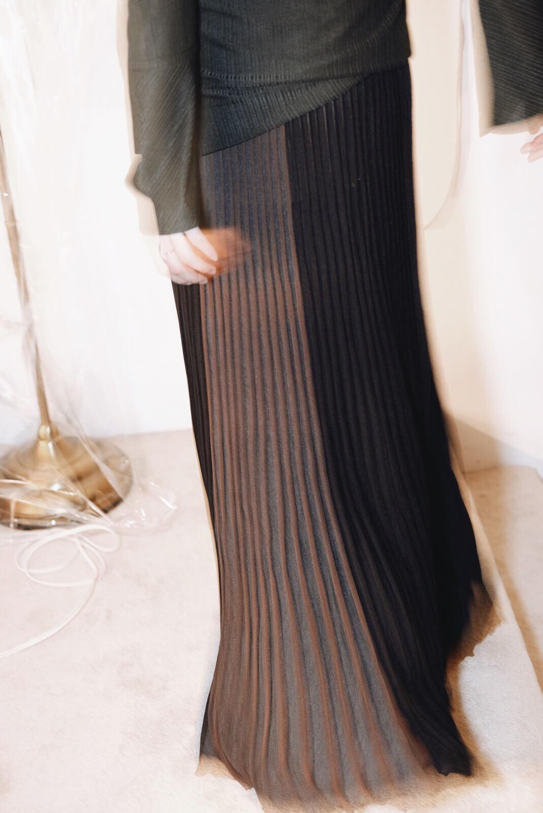 直條針織裙