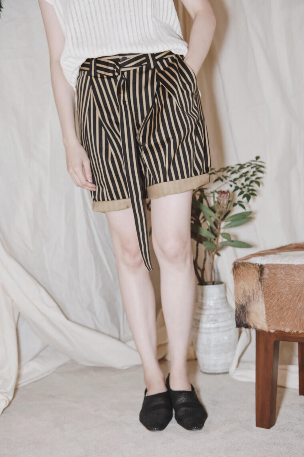 DC直紋短褲