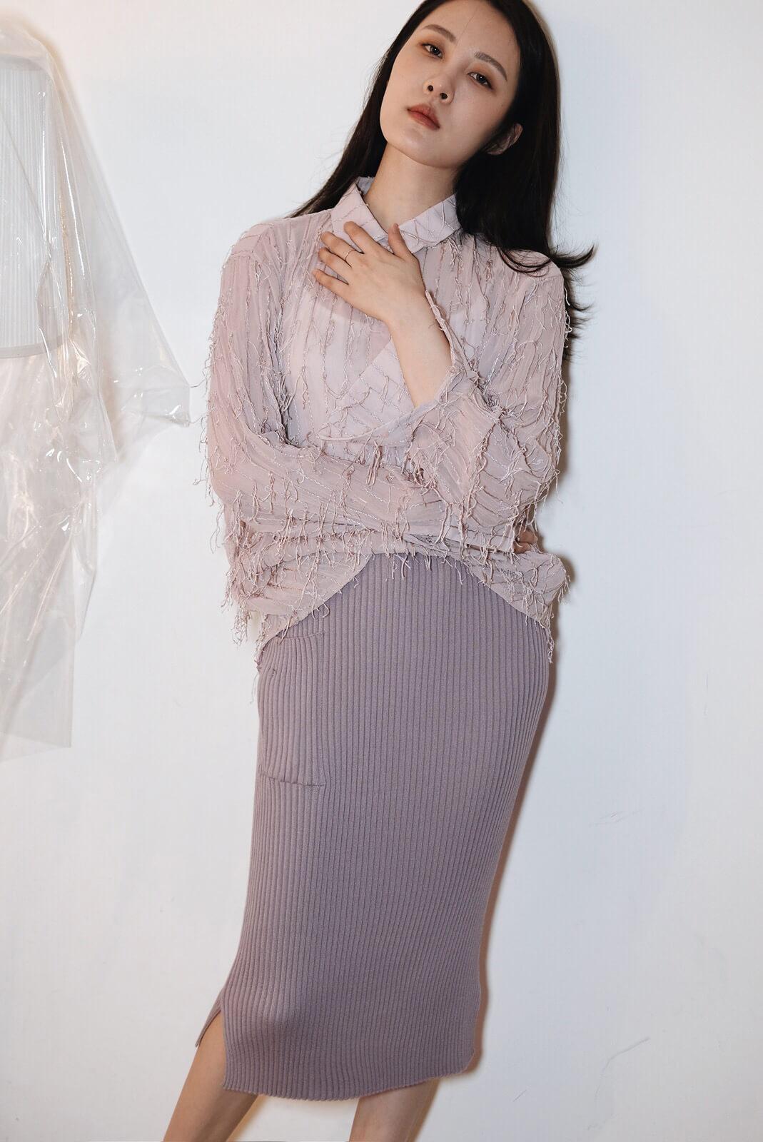 直紋口袋裙