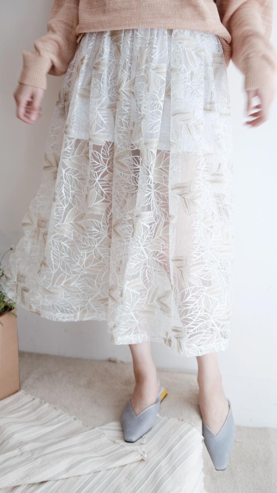 DC金樹葉紗裙