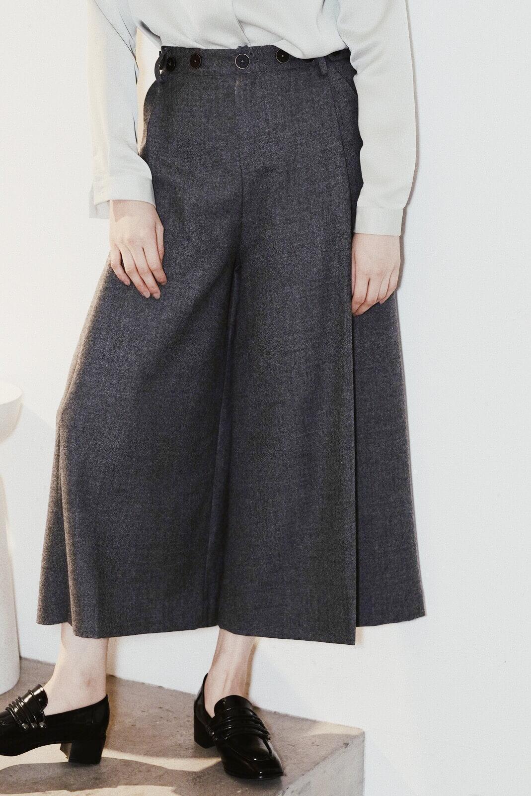 DC側折寬褲