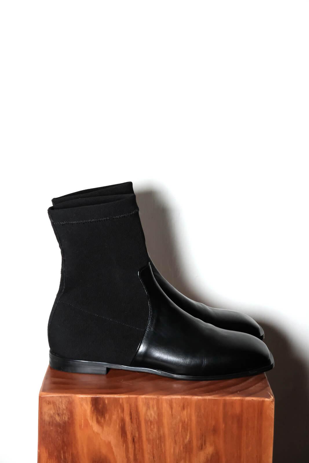 DC平底黑襪靴