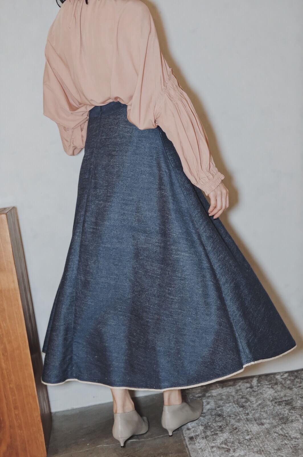 DC單寧滾邊裙