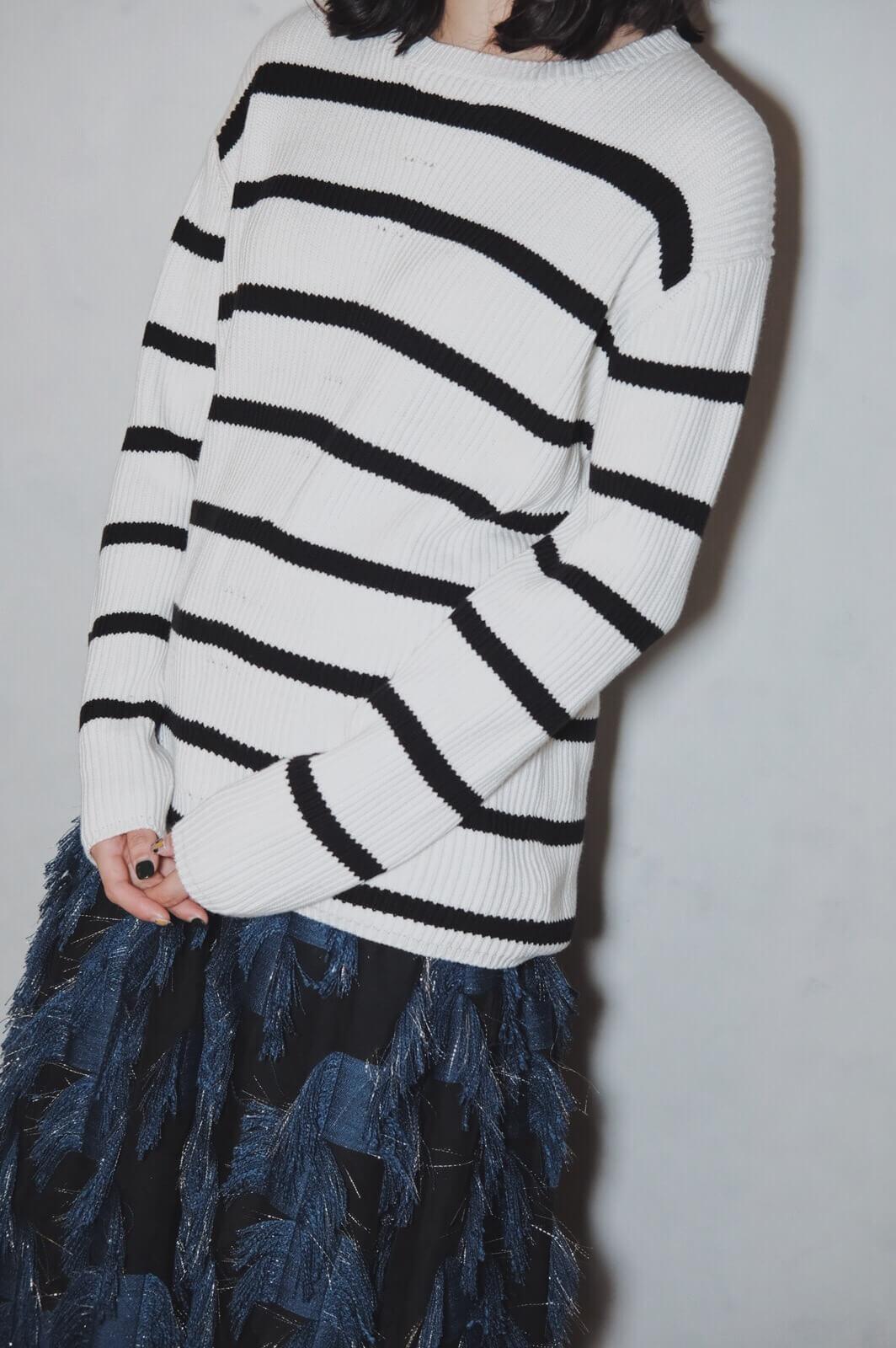 DC棉針織橫紋衫