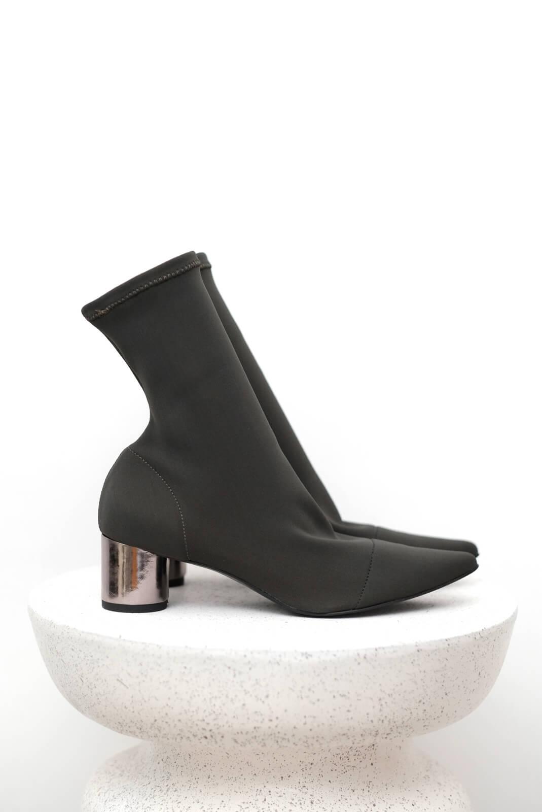 DC銀跟尖頭踝靴