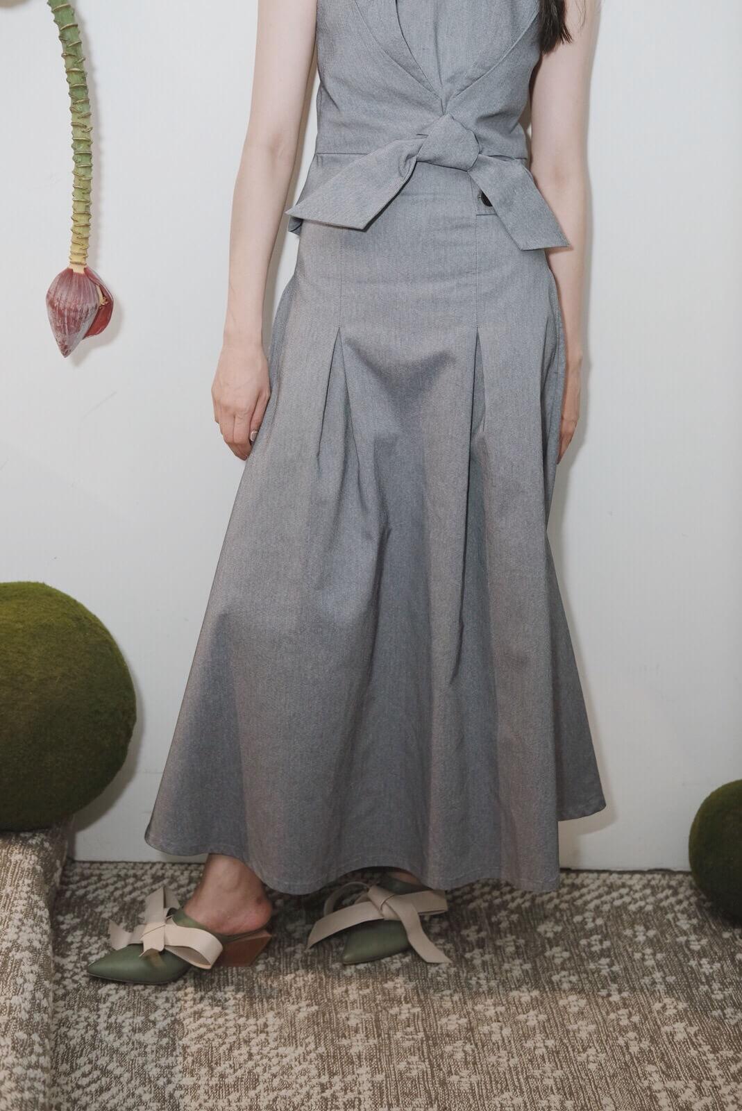 DC窄腰長裙