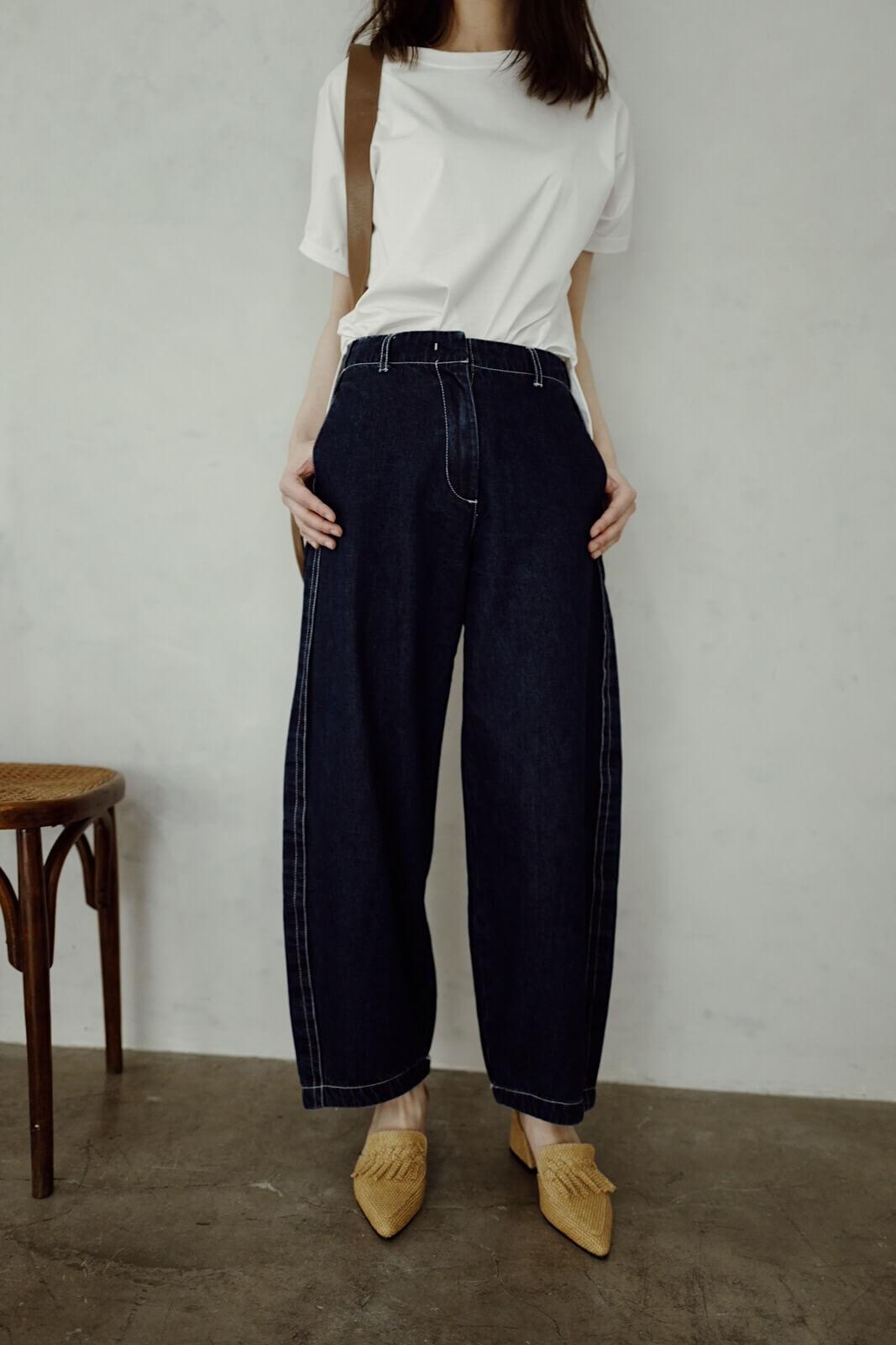 DC明線錐形單寧褲