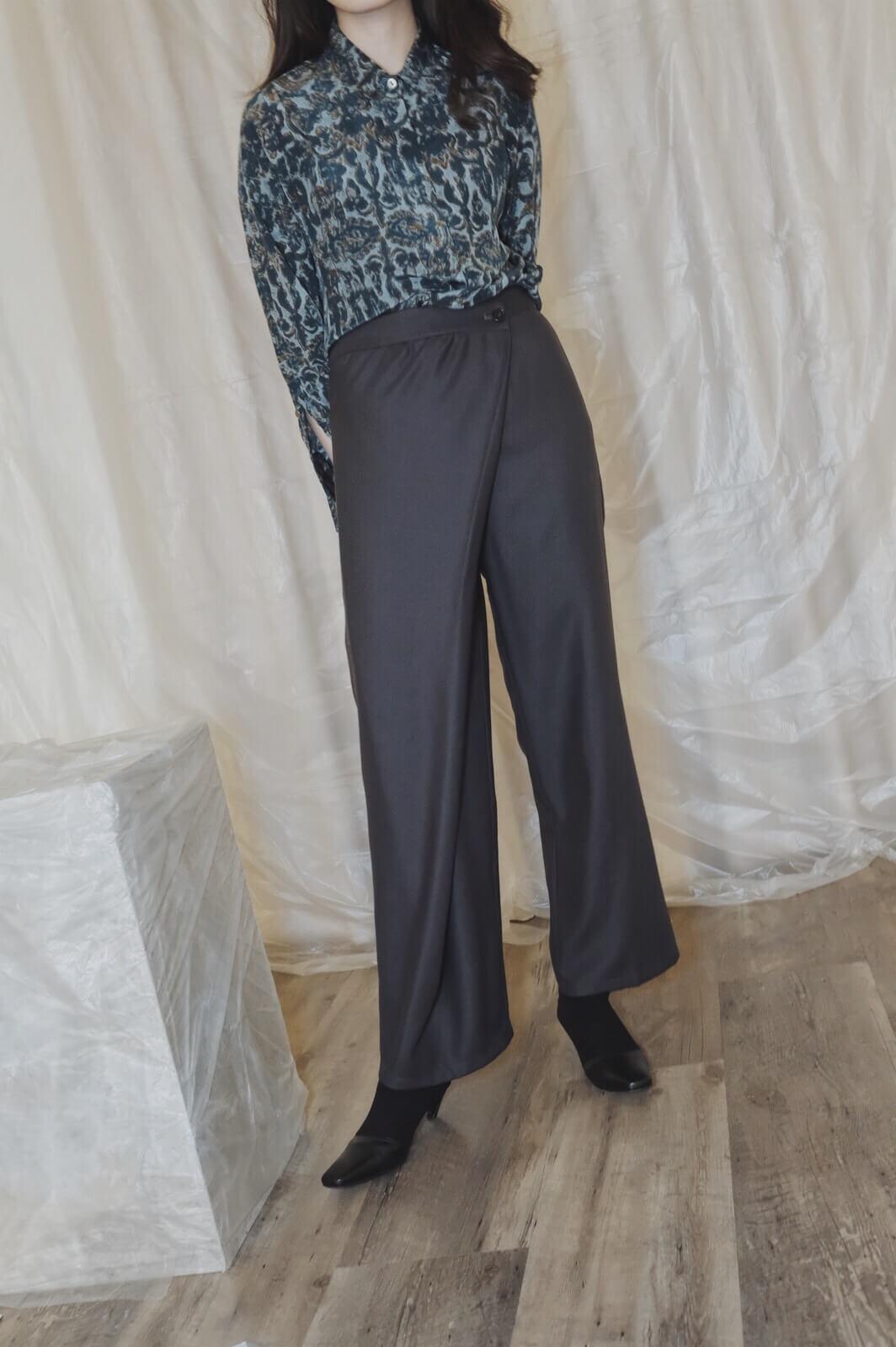 DC側片折寬褲