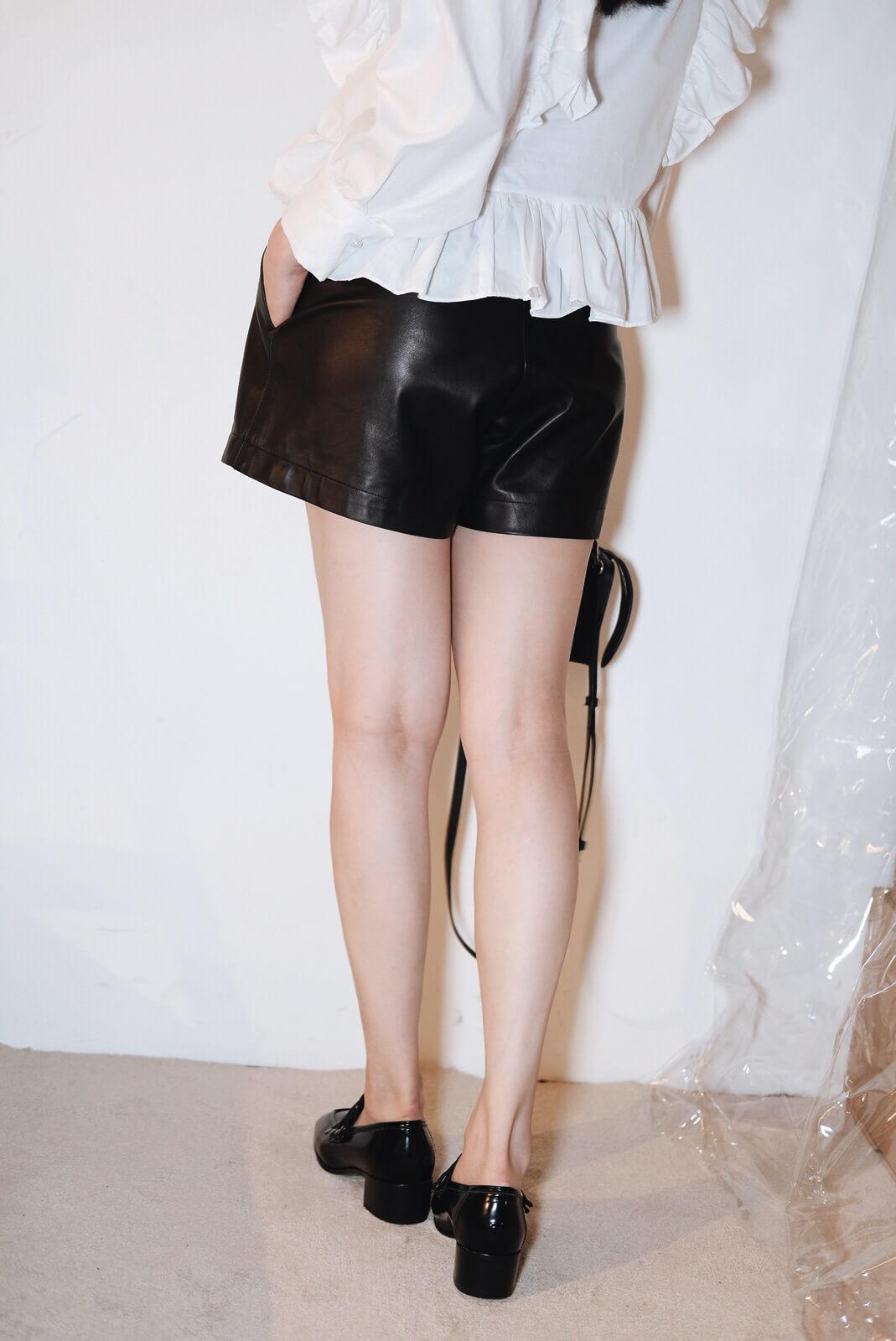 DC羊皮短褲