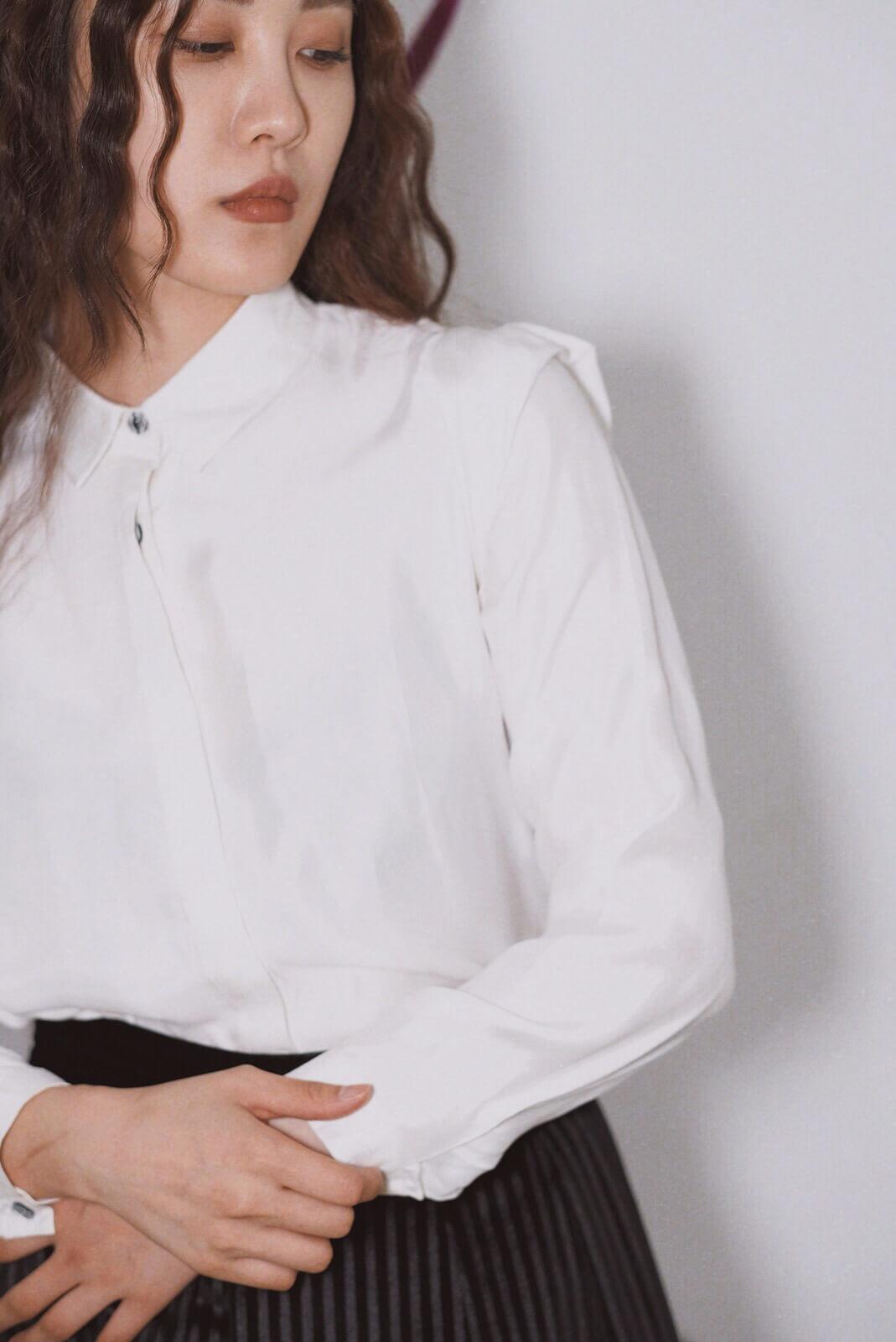 DC切袖拼接襯衫