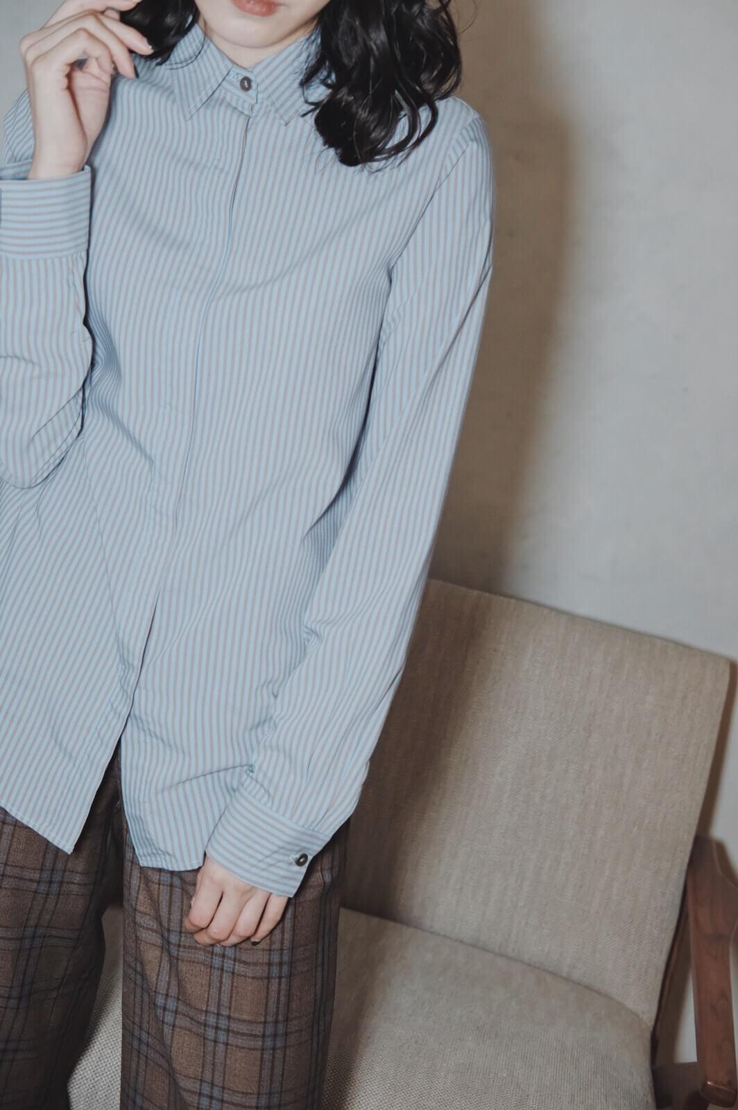 DC直細紋襯衫