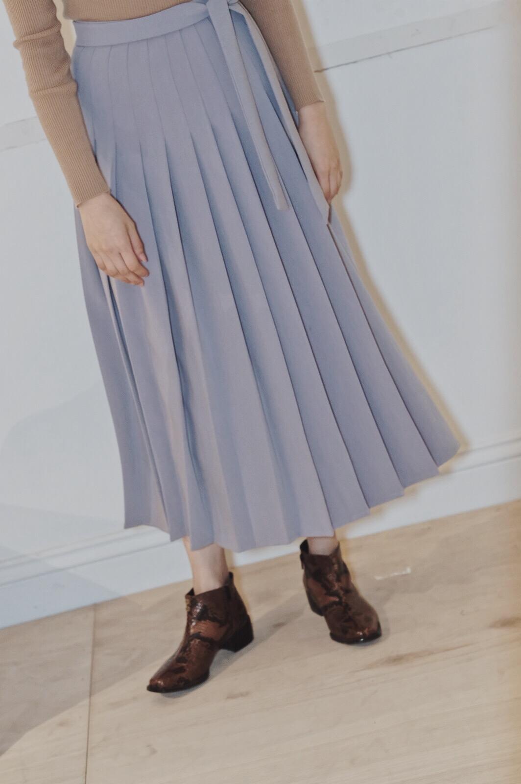 DC麻紗百褶裙