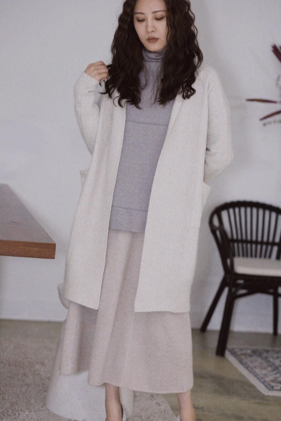 圍巾領罩衫