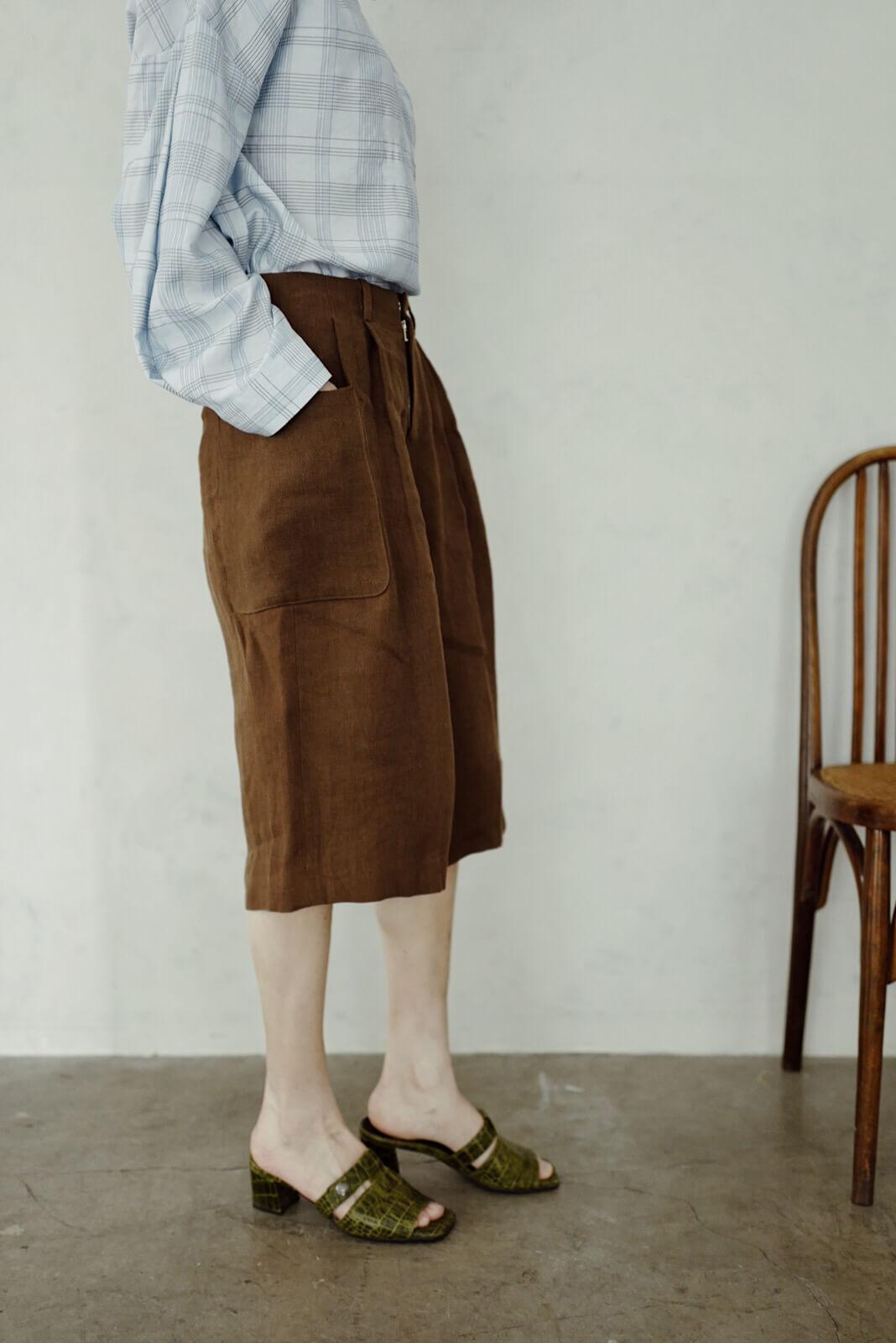 口袋七分褲