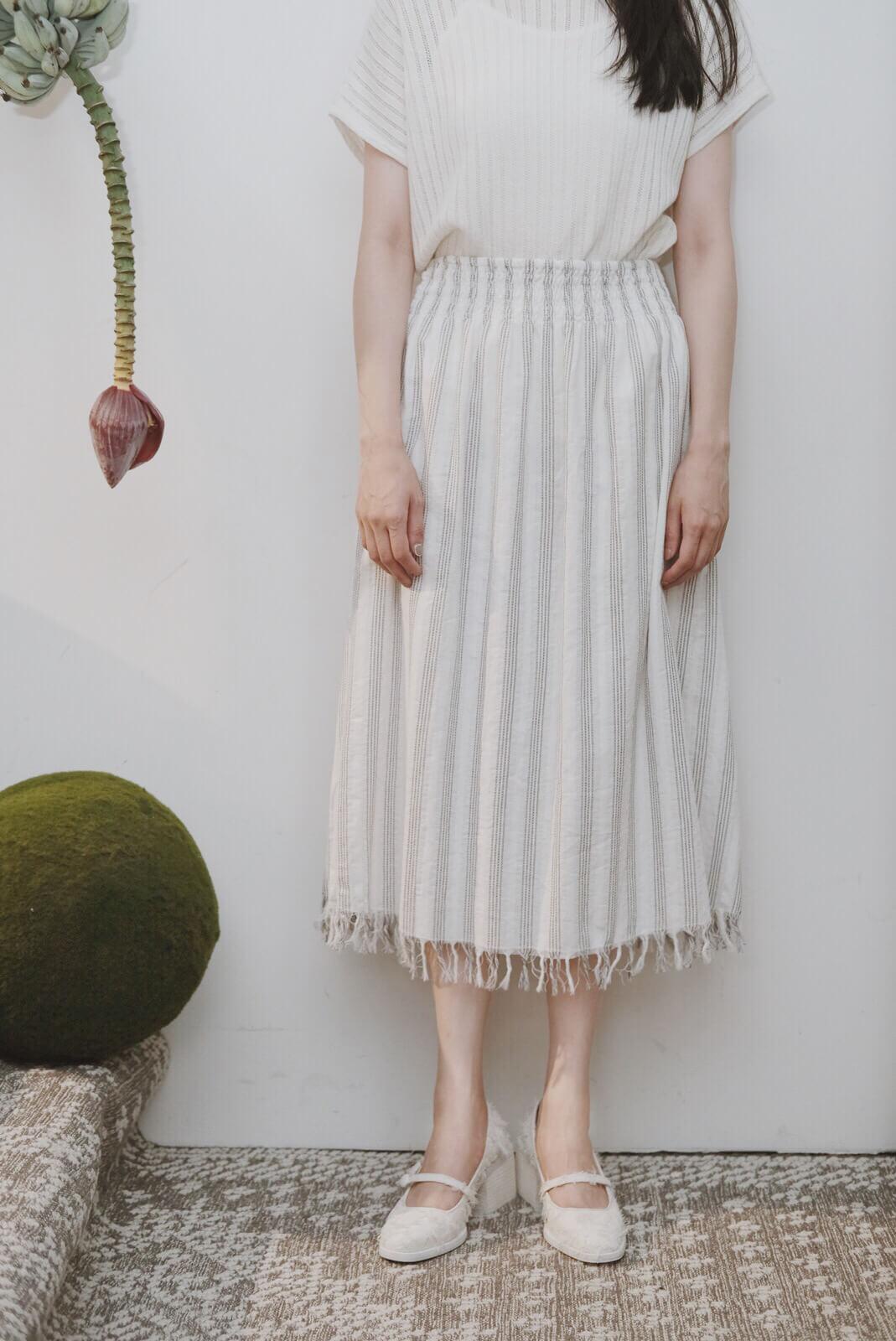 DC直紋抽鬚裙