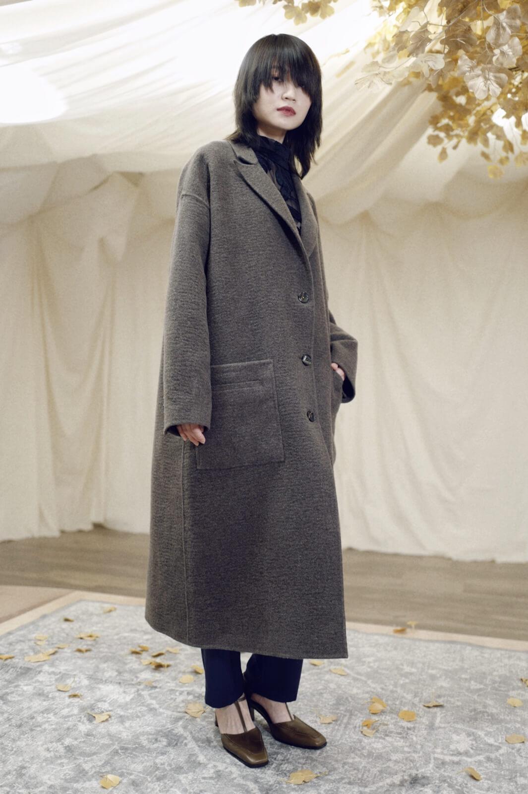 DC水波西裝式大衣