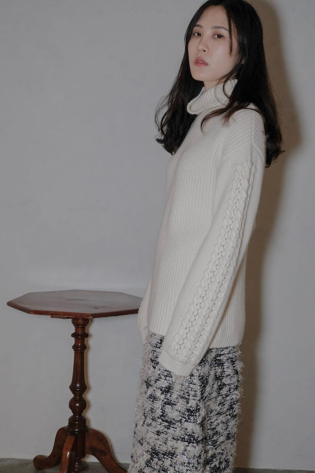 DC袖編織毛衣