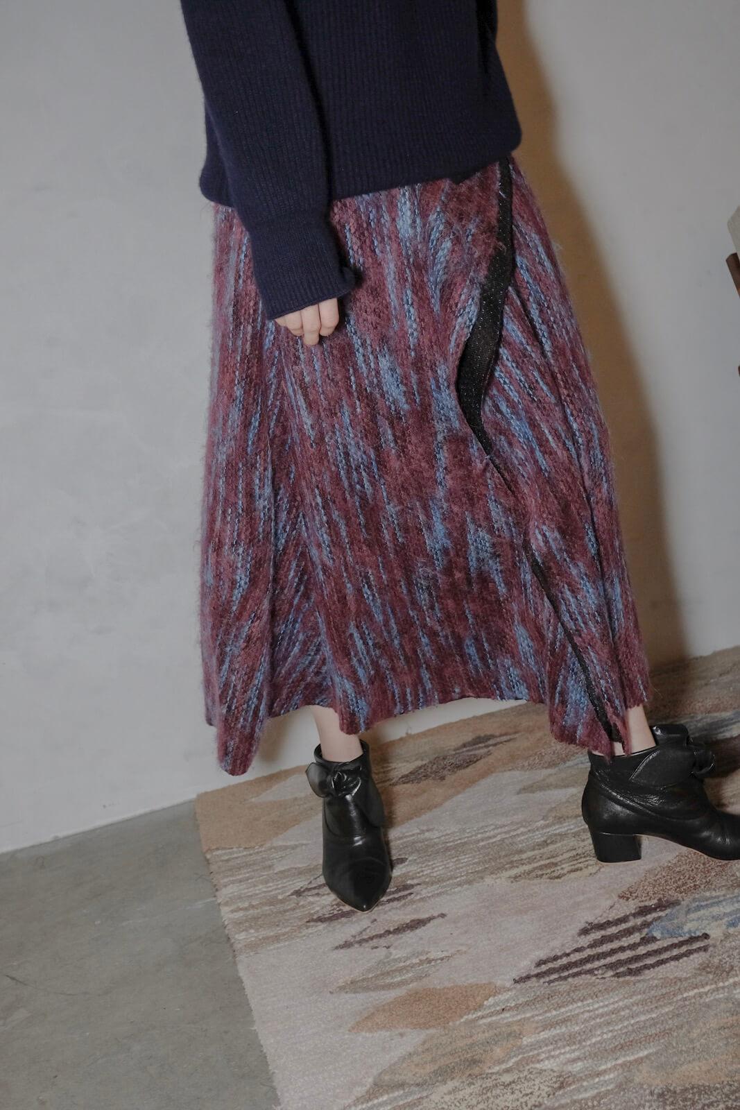 DC毛線紋垂墜裙