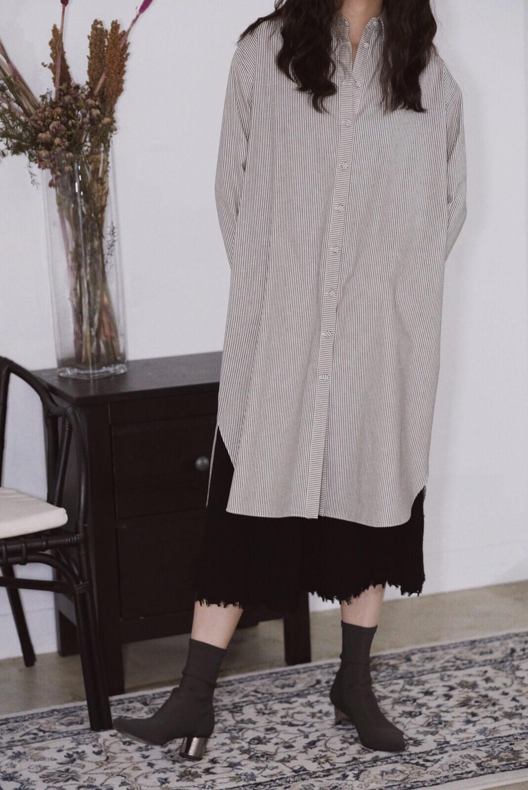 下襬破壞針織裙