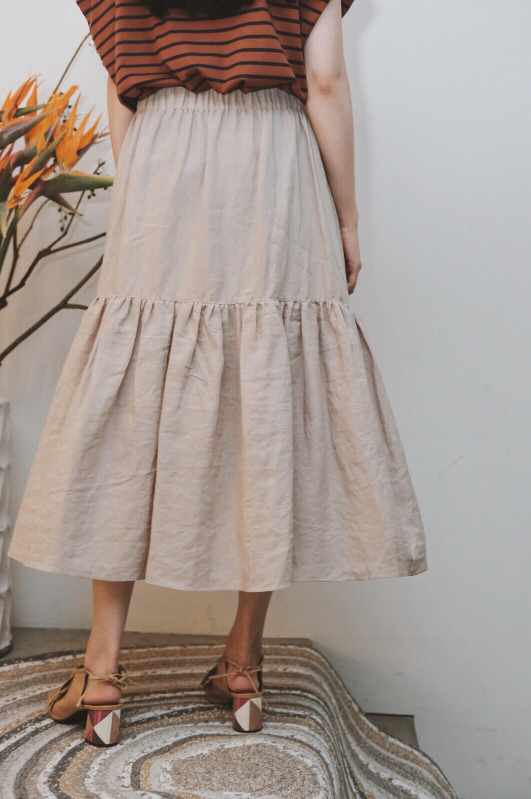 棉麻魚尾裙