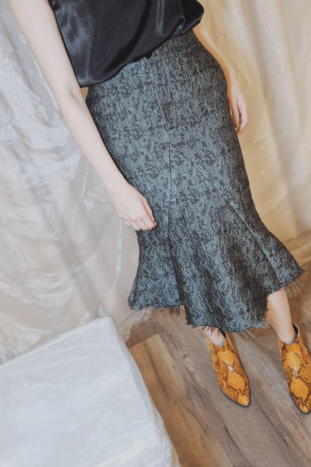 DC緹花緞魚尾裙
