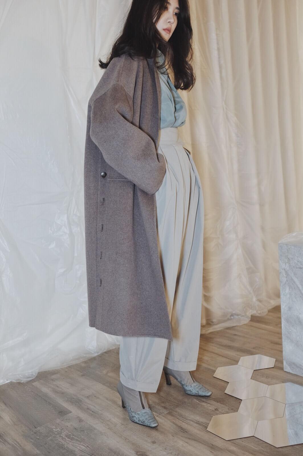 DC側釦大衣
