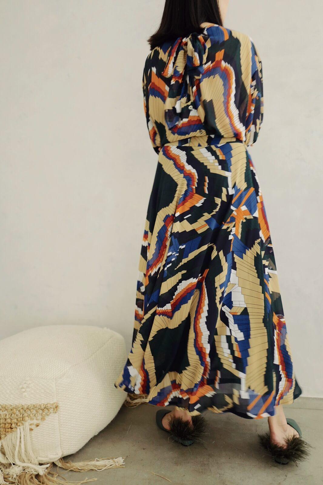 DC摺紙圖騰裙