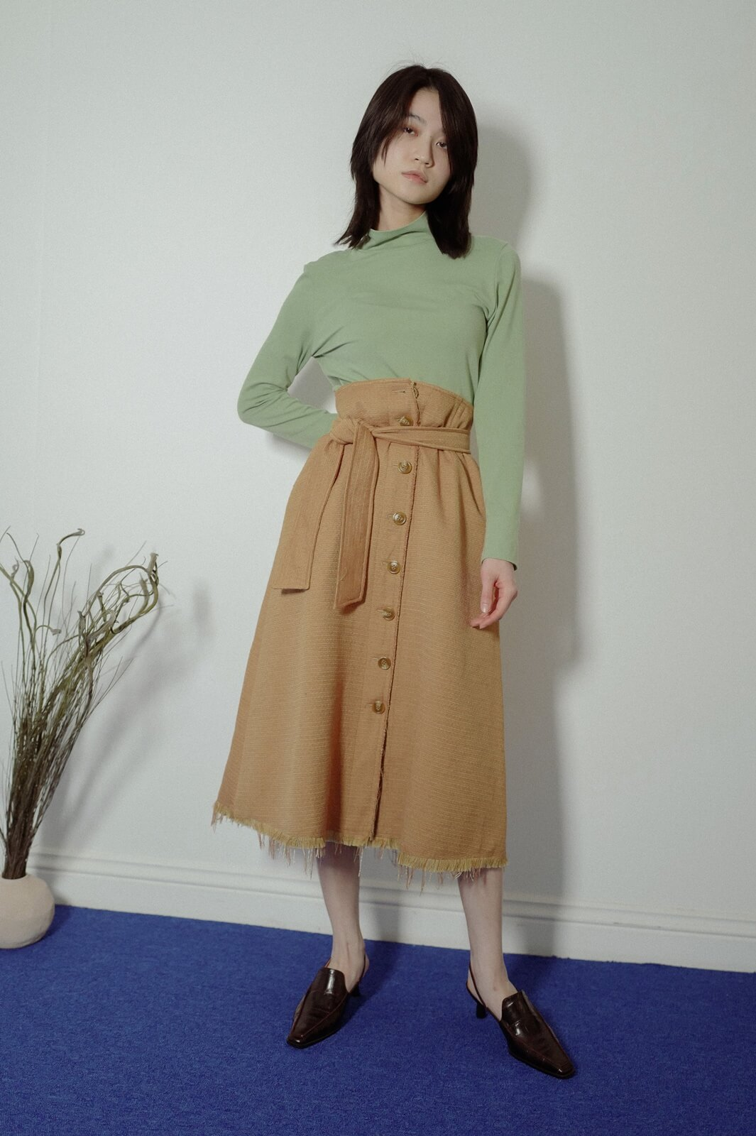 DC抽鬚排釦裙